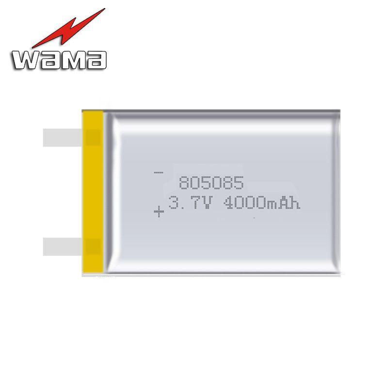 2 pcs/lot 805085 capacité réelle 4000 mAh Li-ion 3.7 V batterie Rechargeable Lithium polymère sauvegarde puissance produits numériques tablettes