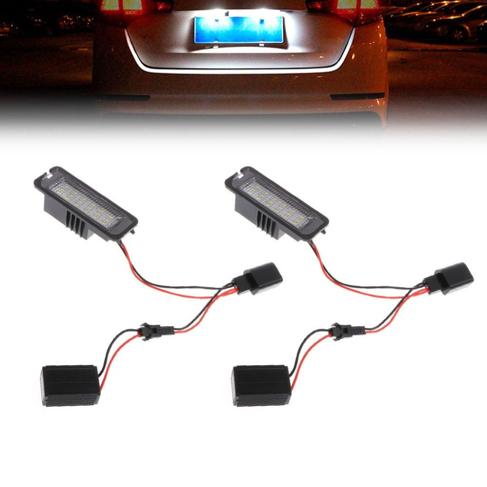 2pcs LED Number License Plate Light For VW GOLF MK4 MK5 MK6 PASSAT EOS ERROR FREE