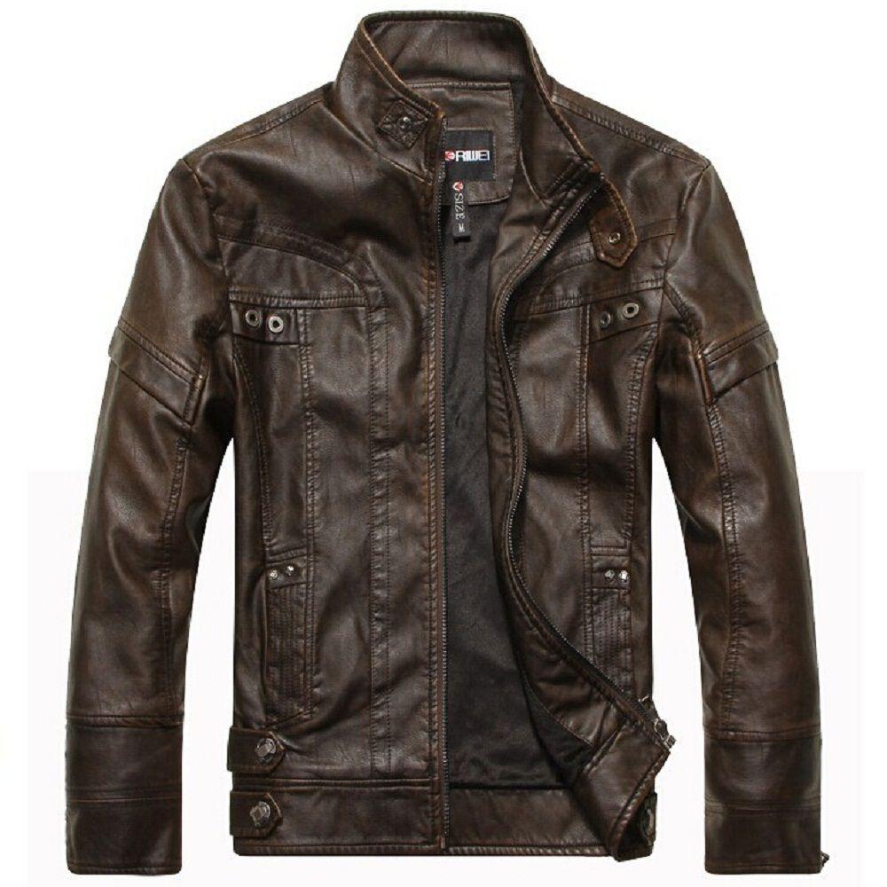 Новая модная брендовая куртка-пилот Мужская кожаная куртка осень-зима кожаная одежда Homens jaqueta de couro Бизнес Повседневный пиджак