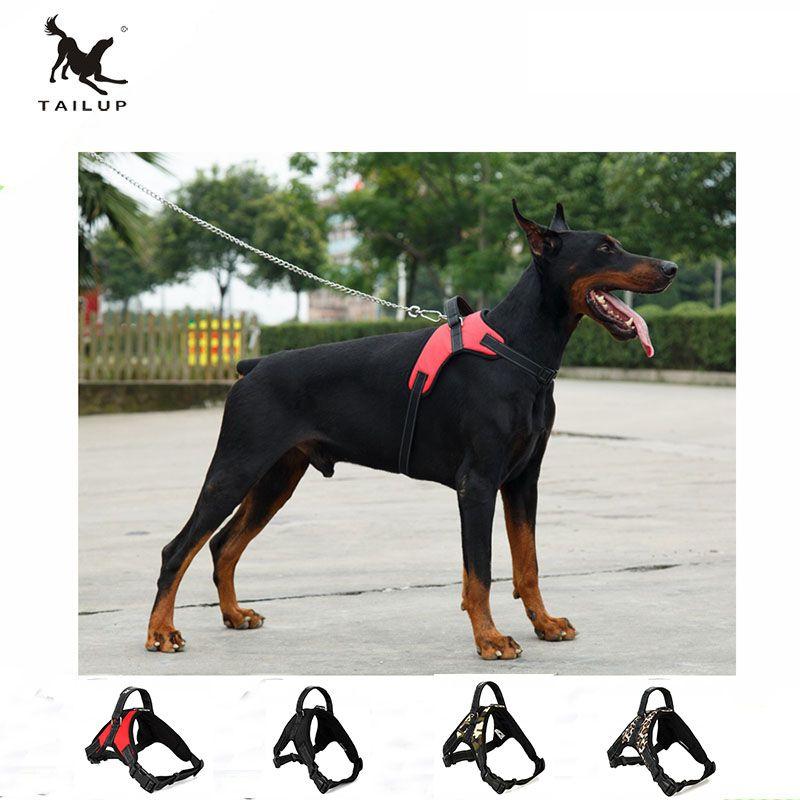 TAILUP Große Hundegeschirr POLIZEI K9 Collies Kragen Haustier Camouflage Reflektierende Sattel Harness Keine Ziehen Leicht Gehen
