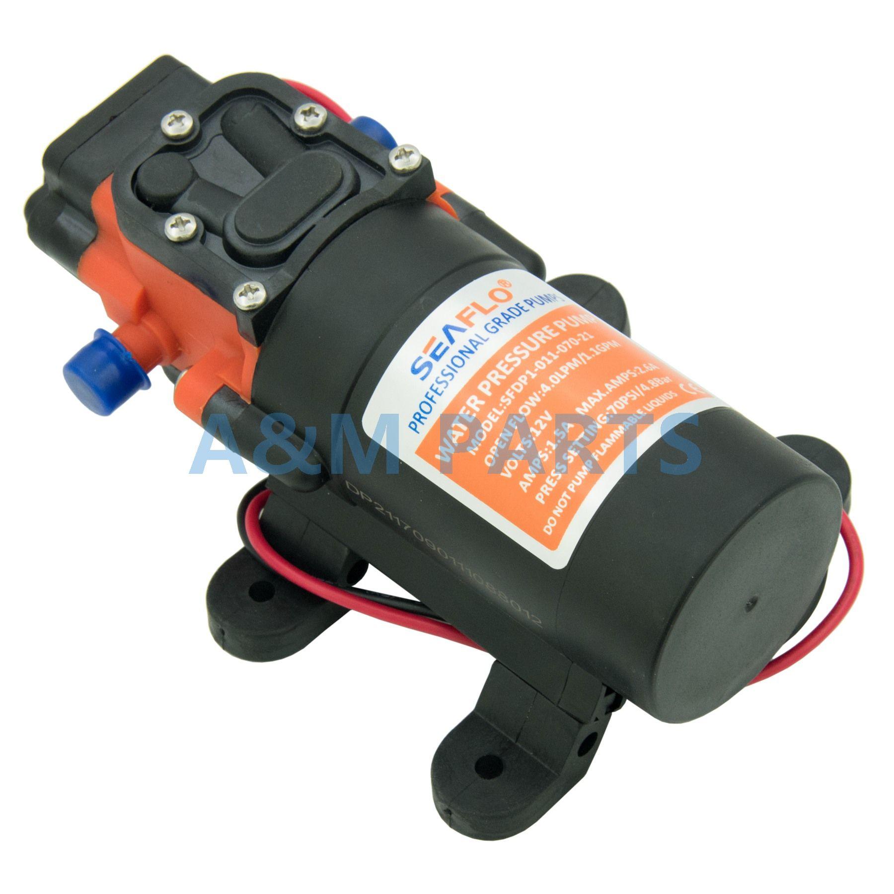 Marine Boat Diaphragm Water Pressure Self Priming Pump 12V 70PSI 1.1 GPM
