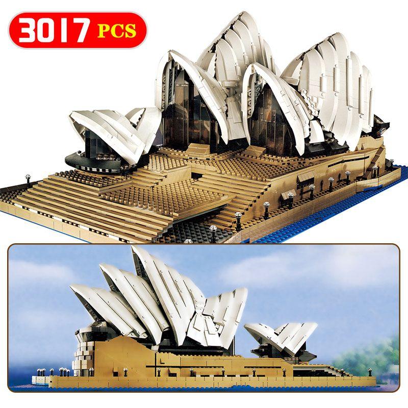 Creators Compatible LegoINGLYS Architecture City Sydney Opera House Model Building Kits Blocks KidToy Brick Toys For Children