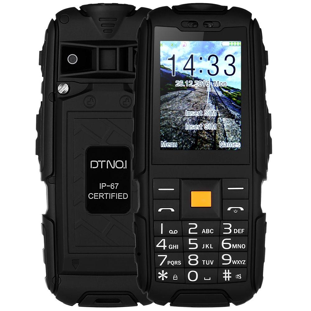 Original DTNO.I A9 Quad Band Unlocked Phone 2.4 inch IP67 Waterproof Dustproof Shockproof FM Flashlight Camera 4800mAh Battery