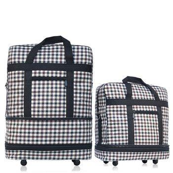 2018    hot design wholesale folding large capacity universal wheels retractable folding tug bags ultra-light luggage travel box