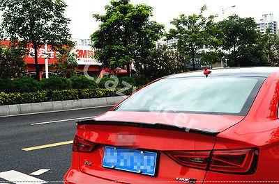 A3 S3 8V Carbon Fiber Rear Trunk Lip Spoiler Wing For Audi A3 S3 8V Sedan 2014-2015 V Style