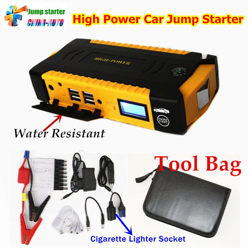 Portable Car <font><b>Jump</b></font> Starter 16000mah Power Bank Emergency Auto Battery Booster Pack Vehicle <font><b>Jump</b></font> Starter Better Than 68800mah