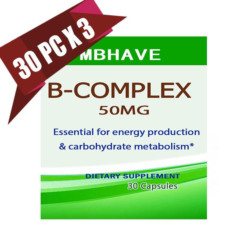 3 bottles Vitamin B Complex High Strength All 9 B Vitamins Biotin & B12 B complex