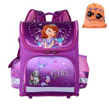 2017 Girls School Bags Backpacks Children Orthopedic Waterproof Backpack Girl's Sofia Book bag Kids Satchel Knapsack Mochila