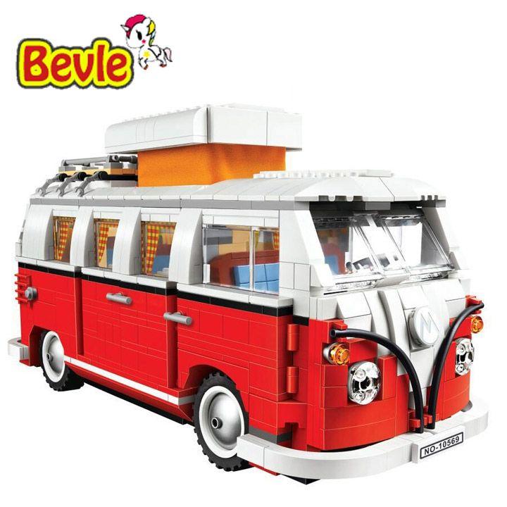 Bela 10569 Volkswagen T1 Camper Van Model Building Blocks Bricks Toys Compatible with Legoings Creator 10220