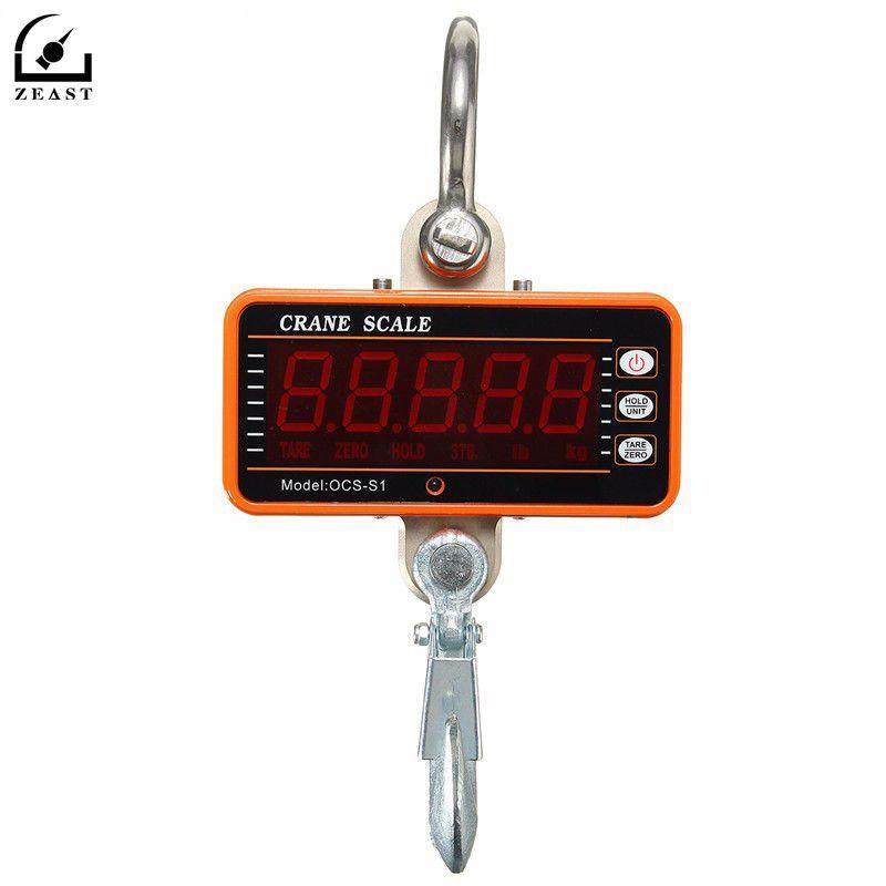 1000 kg 2000LBS Hängen Skala Digitale LCD Kran Skala Hohe Präzision Heavy Duty