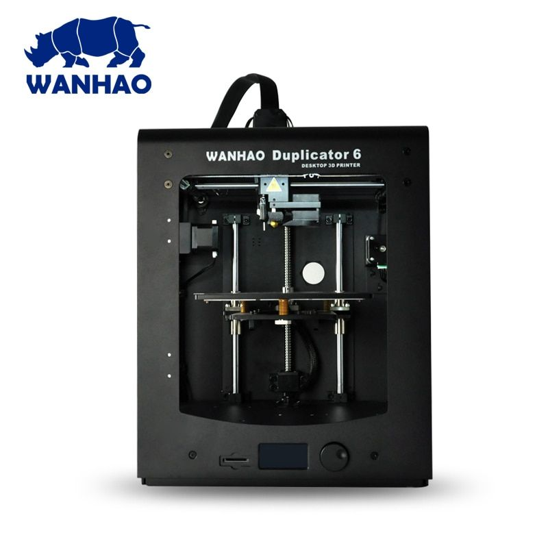 Newest 2018! 3D printer D6 Plus Wanhao Duplicator 6 with auto leveling, 300C.