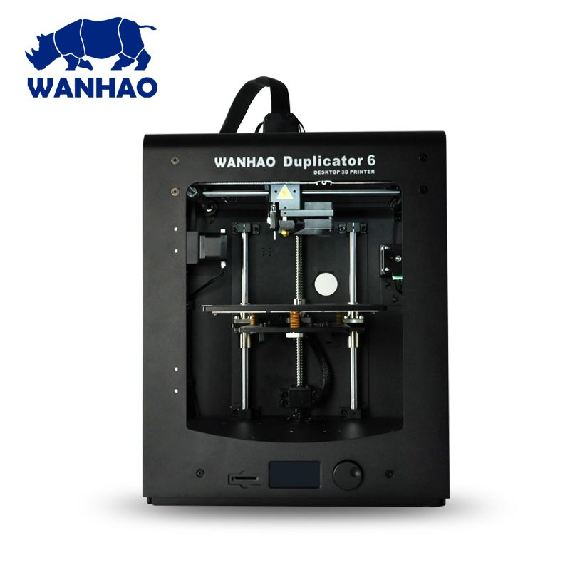 Newest 2018! 3D printer D6 plus Wanhao Duplicator 6 with auto leveling, 300C
