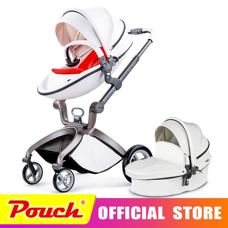 Hot mother stroller baby carriage high landscape can sit or lie on pneumatic wheel portable baby carts cart