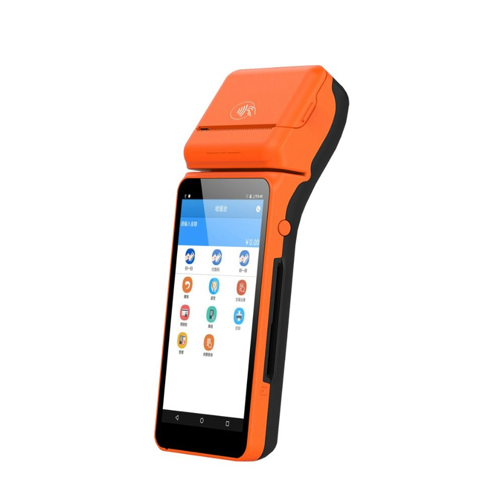 High Quality 5.5 inch Touch Screen Mobile Payment POS System Wireless Android Handheld POS Terminal For Supermarkets Restaurant