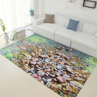 Multicolour 6mm ultra-thin 3D carpet living room coffee table carpet Can be customized sofa mats bedroom rectangular rug Medit