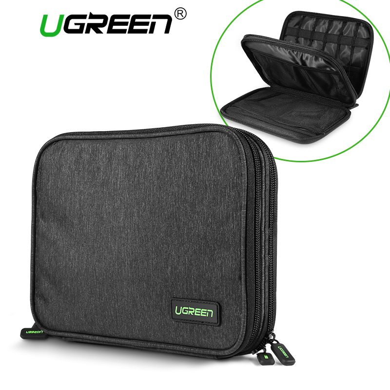 Ugreen Hard Case Power Bank Case Storage Carrying Box for iPad Mini iPhone SSD Bag External Hard <font><b>Drive</b></font> Disk Power Bank Case