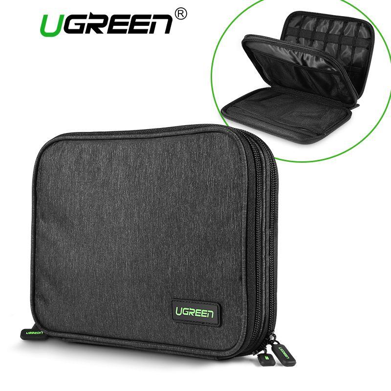 Ugreen Hard Case Power Bank Case <font><b>Storage</b></font> Carrying Box for iPad Mini iPhone SSD Bag External Hard Drive Disk Power Bank Case