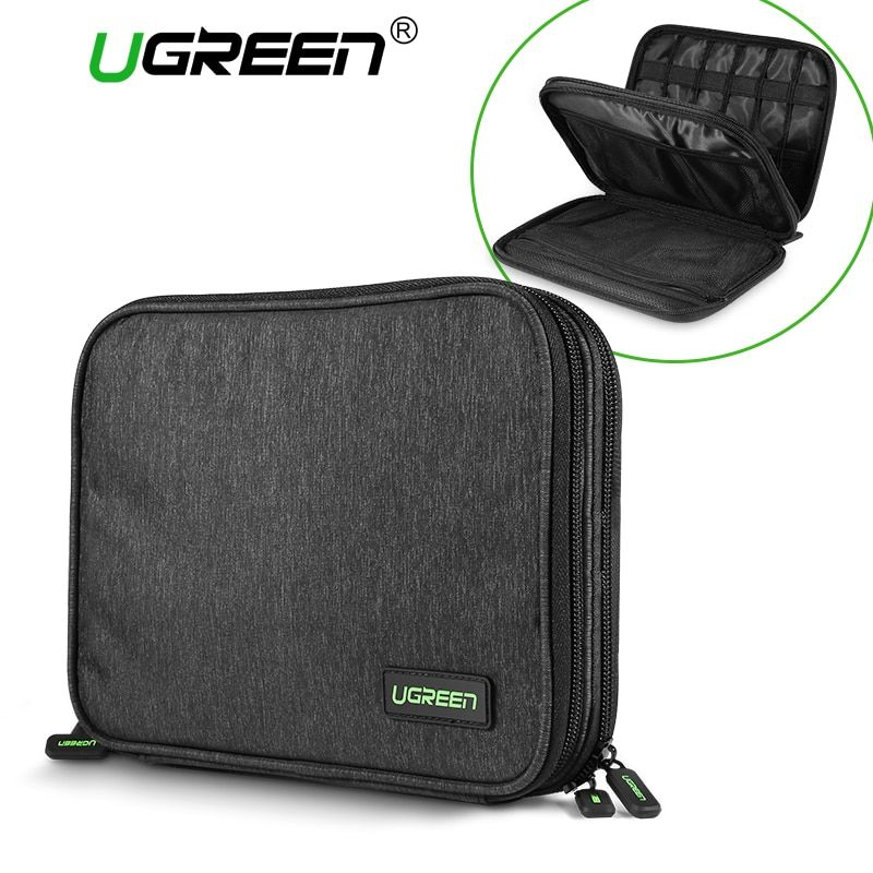 Ugreen Hard Case Power <font><b>Bank</b></font> Case Storage Carrying Box for iPad Mini iPhone SSD Bag External Hard Drive Disk Power <font><b>Bank</b></font> Case