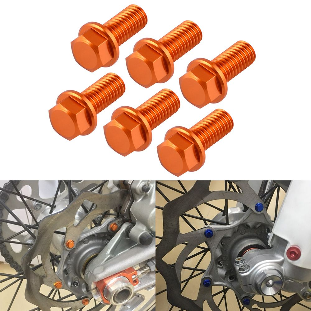 NICECNC Front Rear Brake Disc Rotor Bolt Screw Nuts For KTM 65 85 125 200 250 300 350 400 450 500 530 SX SXF EXC EXCF XC XCF XCW