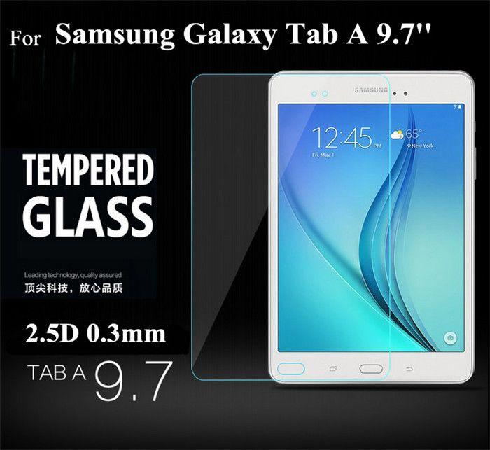 Tab Eine 9,7 T550 Gehärtetem Glas Schutzfolie 2.5D 0,3mm für Samsung Galaxy Tab Eine 9,7 ''t550 t555 Glasschutz
