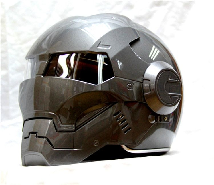 Masei bike scooter moto gray Classic iron man helmet motorcycle helmet half helmet open face helmet casque motocross