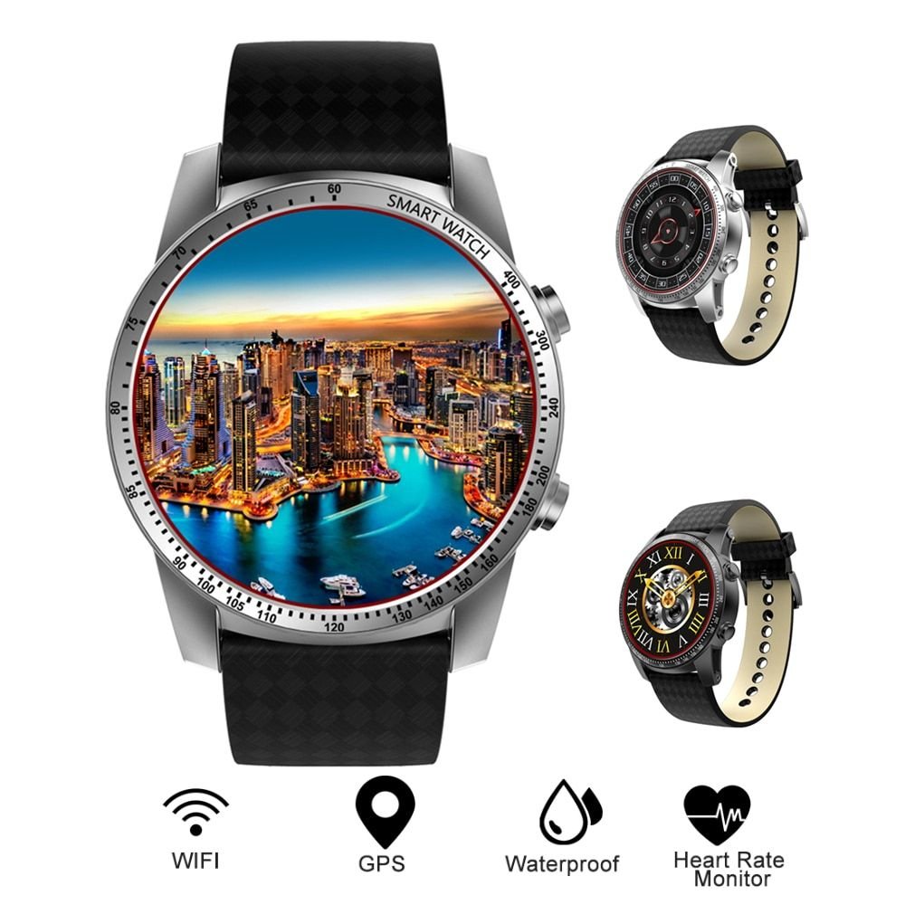 Kingwear KW99 3G Smartwatch Phone Android 5.1 MTK6580 Quad Core 8GB ROM Heart Rate Monitor Pedometer GPS Anti-lost Smart Watch