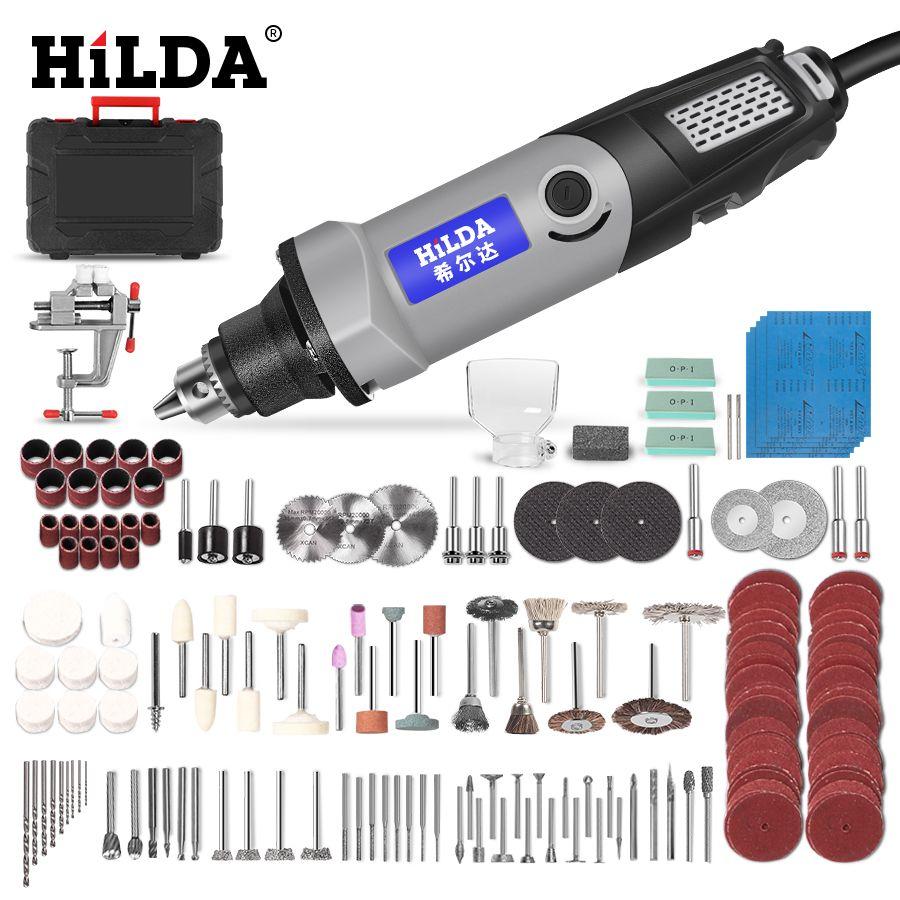 HILDA perceuse électrique Mini graveur outil rotatif 400W Mini perceuse 6 positions pour Dremel outils rotatifs Mini rectifieuse