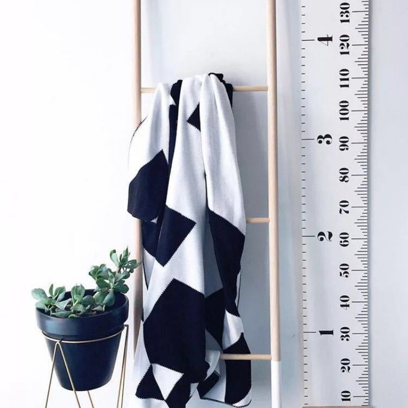 Hot Sale Simple Nordic Style Children Height Ruler Wall Hanging Type Height Measurement Home Decoration Wall Art Ornaments
