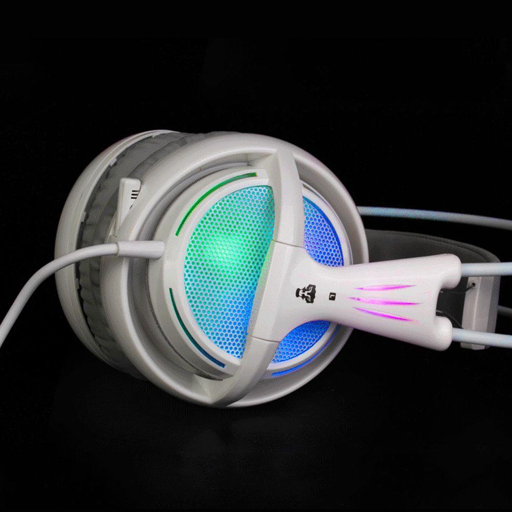 7.1 casque audio arc-en-ciel néon éclairage casque de jeu avec micro pour PC Gamer Allstar LOL CS COD jeu mieux que sibérie V2