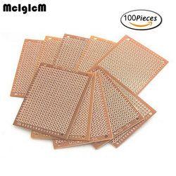 MCIGICM 100Pcs new Prototype Paper Copper PCB Universal Experiment Matrix Circuit Board 5x7cm Brand