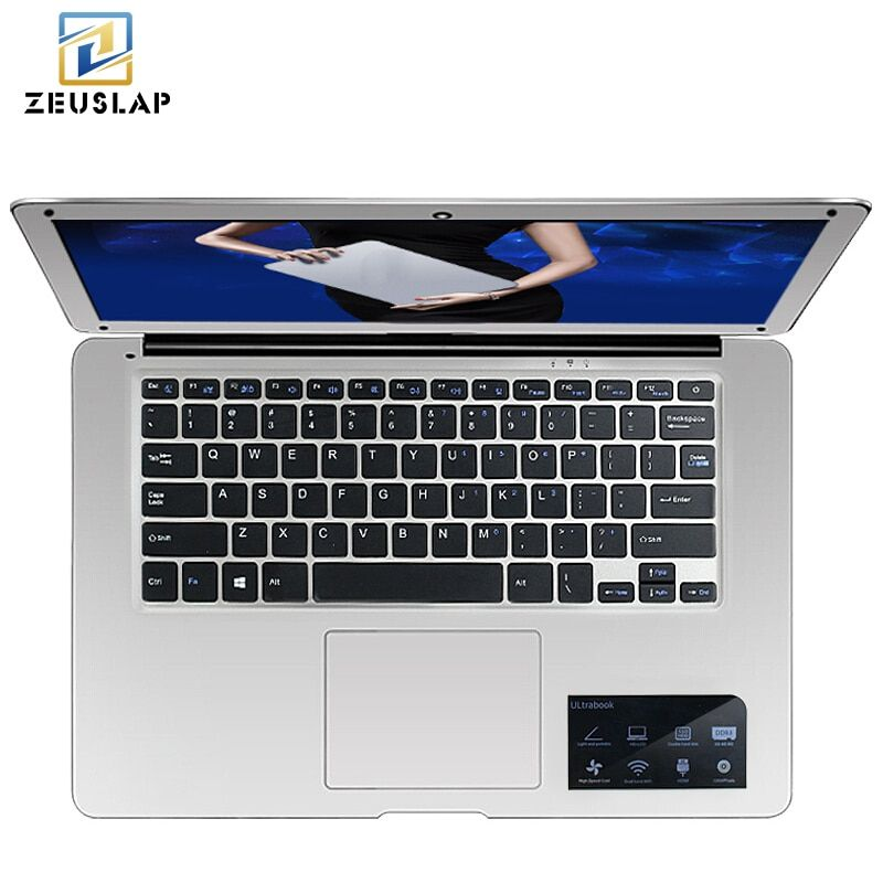 ZEUSLAP-A8 14inch Ultraslim 8GB RAM+256GB SSD Windows 10 System Intel Quad Core 1920x1080P FHD Laptop Notebook Computer