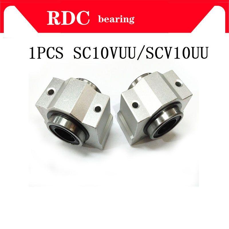 10mm lagerbuchse Hohe qualität 1 STÜCKE SC10V SC10VUU SCV10UU linearlagerblock für 10mm lineare welle einheiten CNC router