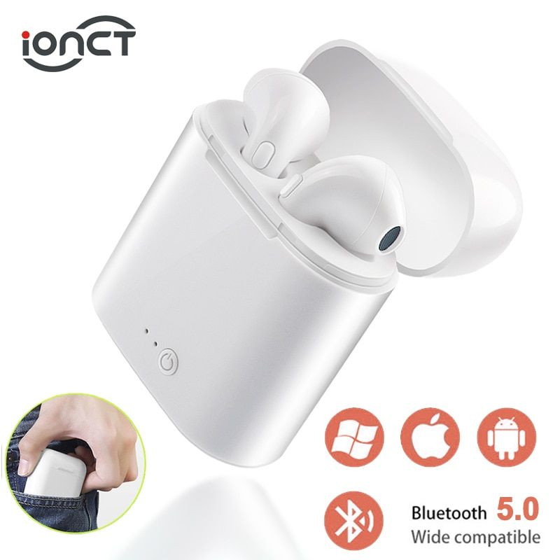 i7s TWS 5.0 Wireless Bluetooth Earphone Stereo Earbud Headset With Charging Box For All Bluetooth tablet Smart phone earphone