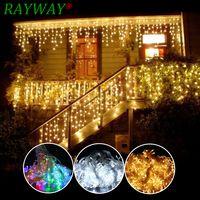 6 m x 3 m 600 LED casa vacaciones al aire libre decoración de Navidad de la boda de Navidad luces de la secuencia de hadas guirnaldas de fiesta cortina luces