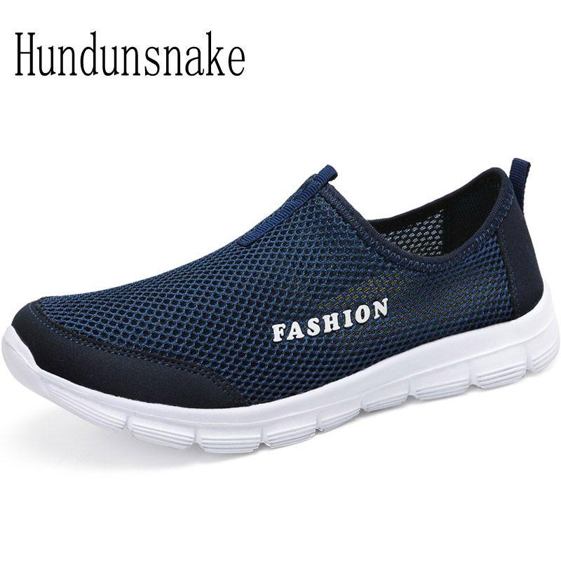 Hundunsnake Running Shoes For Men Sneakers 2017 Sport Mesh Breathable Summer Barefoot Gym Shoe Male Krasovki Adult Gumshoes T236