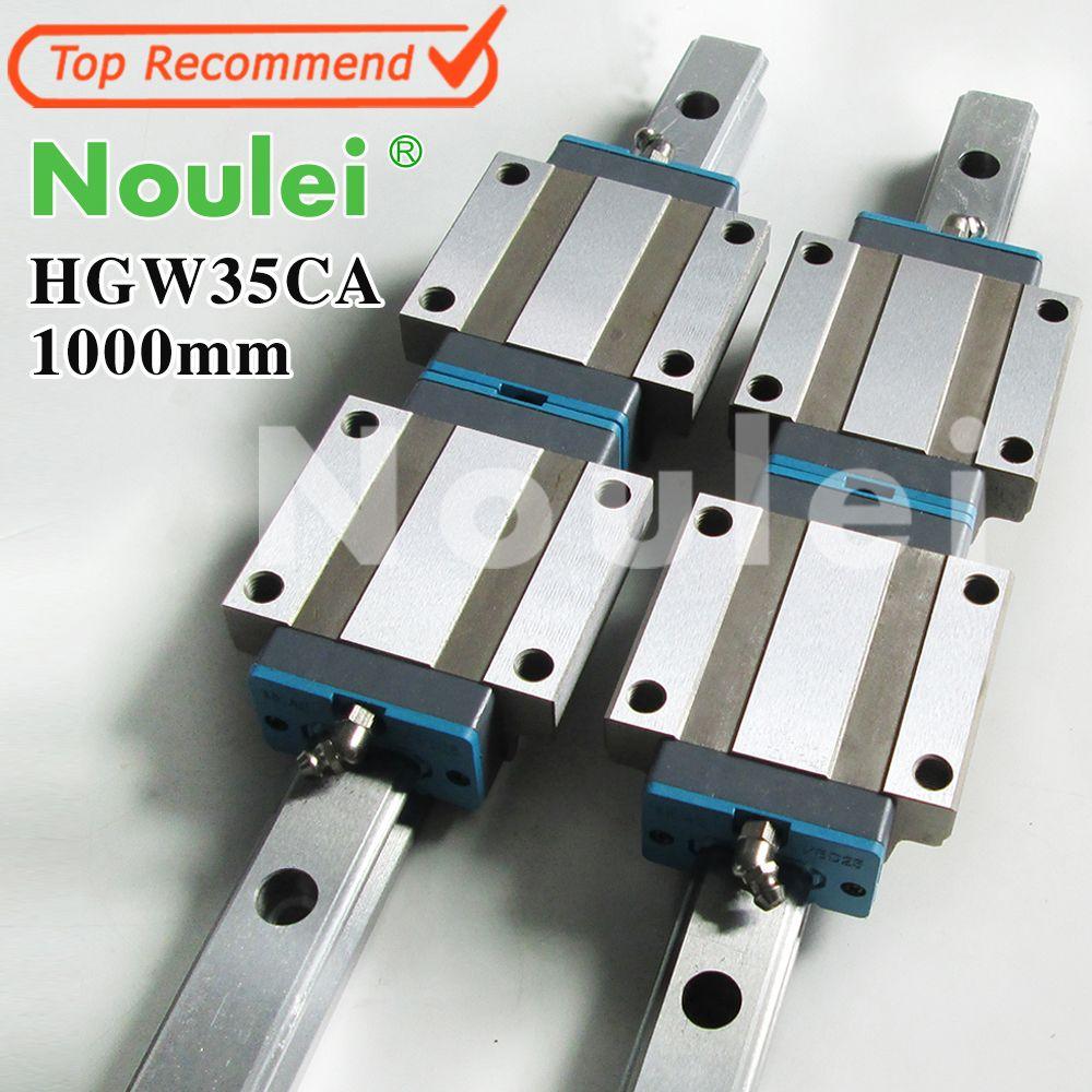 Noulei HGW35CA linear slider mit HG35 1000mm führungsschiene 35mm set für CNC maschine teile Hohe qualität SELBST -BESITZ MARKE