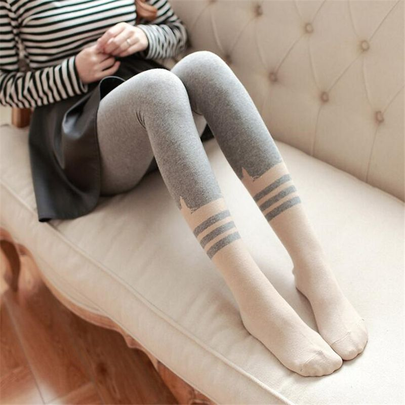 Winter Women Tights Fashion Sexy Stockings Cotton Warm Tights Winter Dress Women Tights Cute Cat Anti-skid Warm Pantyhose QR441