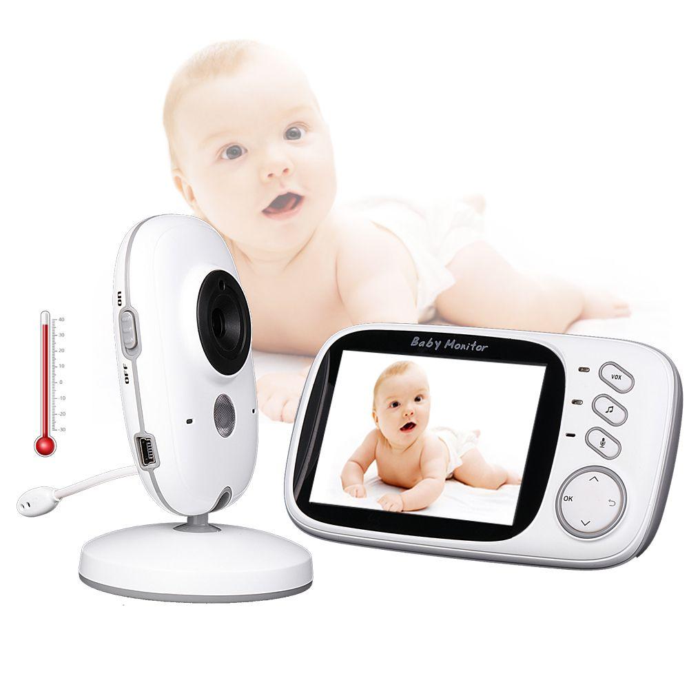 Video Baby Monitor VB603 2.4G Wireless 3.2 Inches LCD 2 Way Audio Talk Night Vision Video Nanny Babysitter Baby Sleep monitor