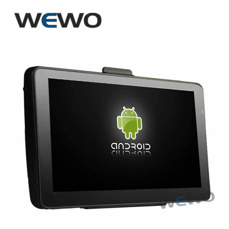7 Inch Car GPS Navigation  8GB 512MB Android 4.4.2 AV-IN WIFI FM Function Tablet PC Truck vehicle gps Free Map
