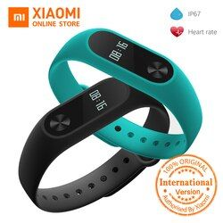 Mondial Version Xiaomi Mi Bande 2 miband 2 Smartband OLED affichage touchpad moniteur de fréquence cardiaque Bluetooth 4.0 fitness tracker