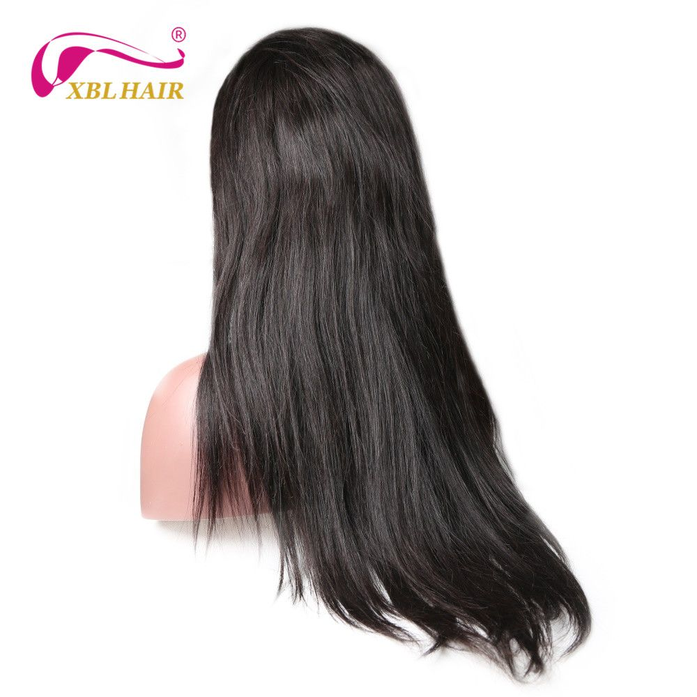 XBLHAIR 360 Lace Frontal Wigs For Women Straight Hair Natural Color Pre Plucked Natural Hairline Remy Hair Human Hair Wigs
