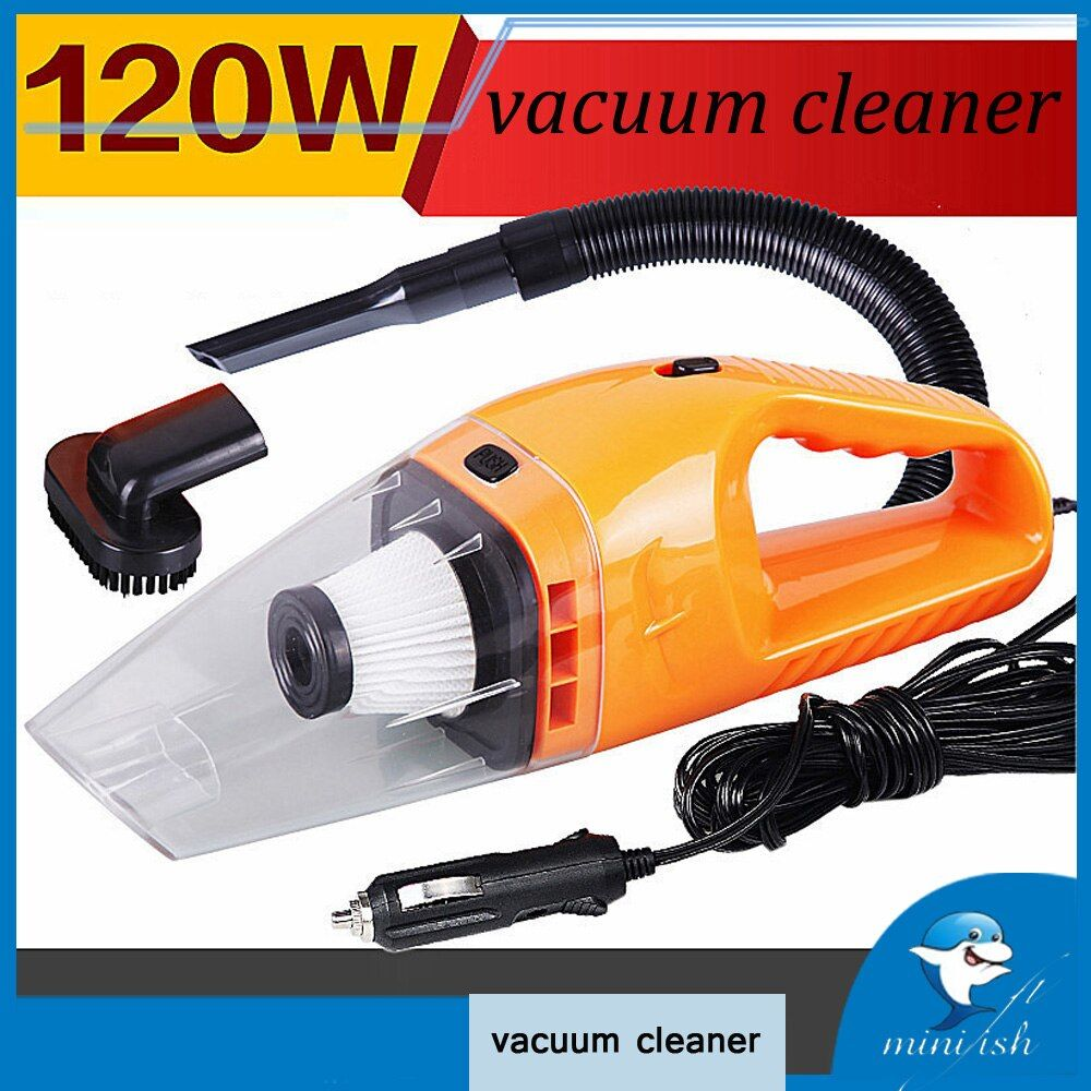 Car Accessories 120W Portable Handheld Wet And Dry Dual Use Car Vacuum Cleaner For Auto Clean 5m Length Charging Line