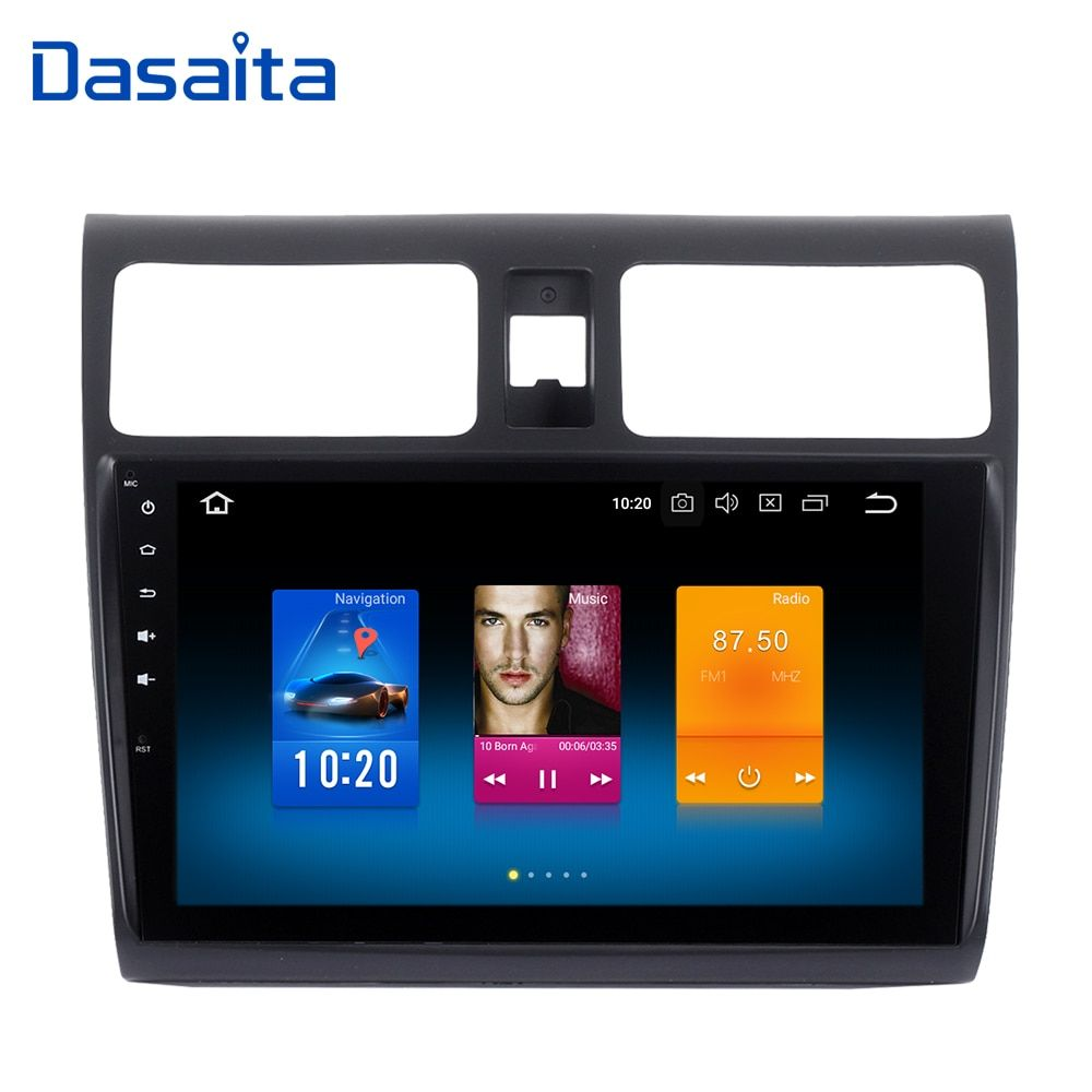 car multimedia system android 8.0 single din android stereo for Suzuki Swift 2005 2006 2007 2008 2009 2010 build in GPS 1024*600
