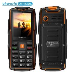 VKWorld New Stone V3 IP68 Waterproof 2.4inch 3000mAh Mobile Phone GSM FM Russian Keyboard 3 SIM Card Slots Flash Light Cellphone