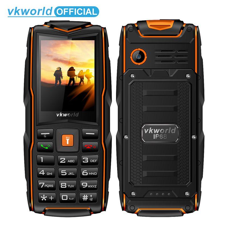 Vkworld новый камень V3 IP68 Водонепроницаемый 2.4 дюйма 3000 мАч мобильный телефон GSM FM Русская клавиатура 3 слота для sim карты вспышка телефона