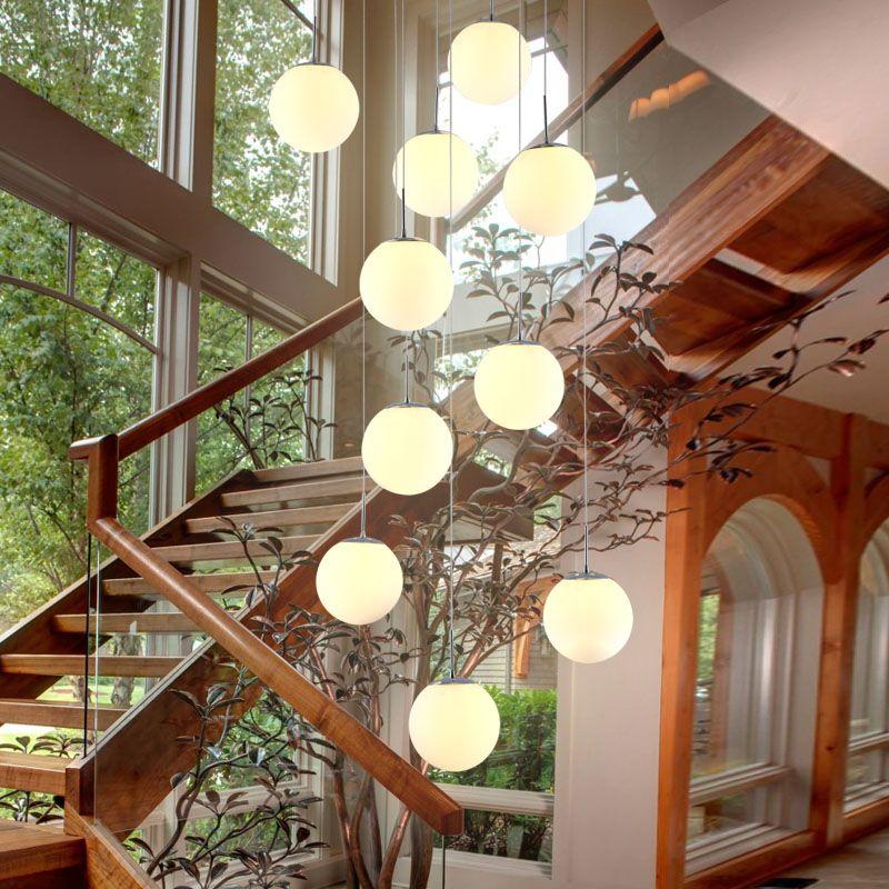 Double staircase Pendant Lights modern modern living room restaurant model room exhibition hall Pendant Lights art creative