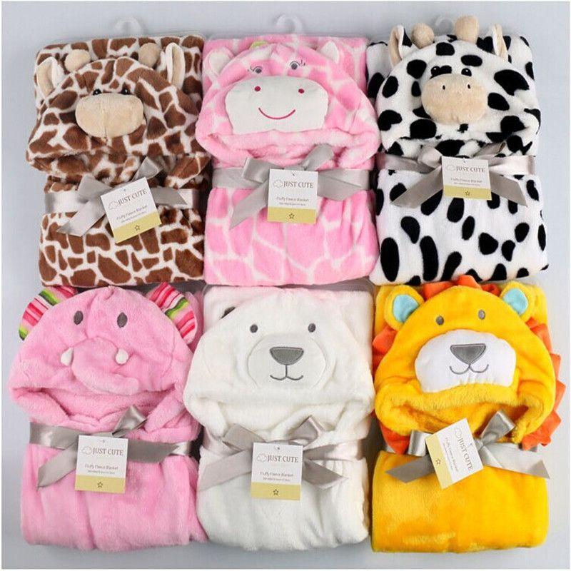 Симпатичные животные Форма Детские Халат с капюшоном банное полотенце из флиса для получения одеяло новорожденных овладеть быть дети млад...