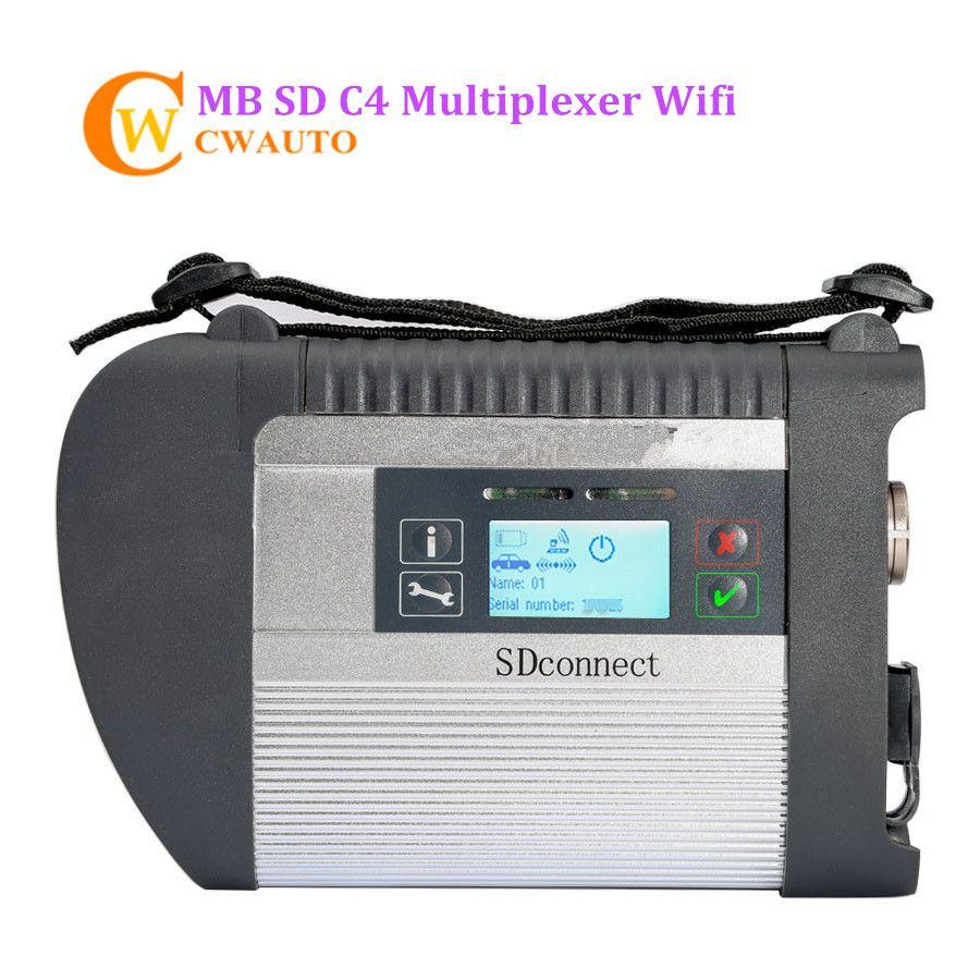 Neue MB-Stern C4 SD Schließen Dieseldiagnosen-schnittstelle Unterstützung Wifi für Pkw und Lkw Diagnosewerkzeug Freies Verschiffen