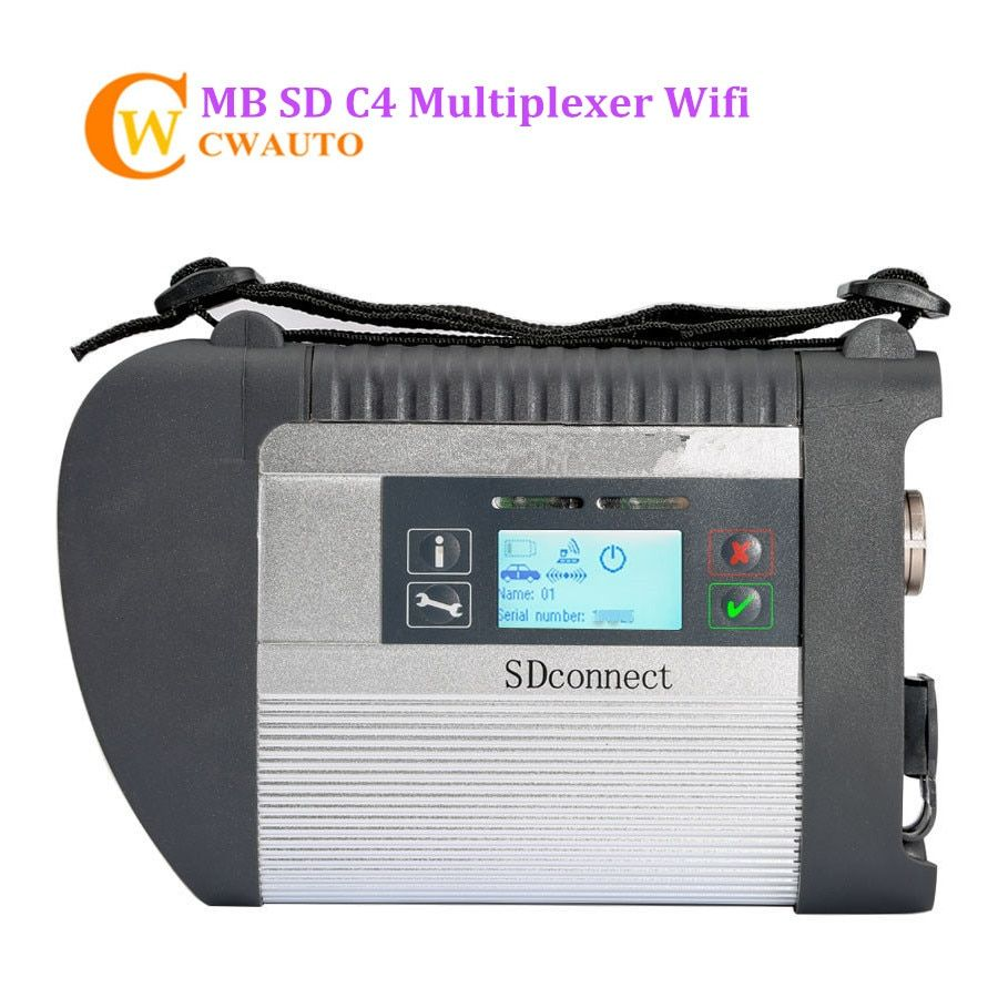 New MB Star C4 SD Connect Diagnosis Interface Support Wifi for Cars and Trucks Diagnostic Tool Free Shipping