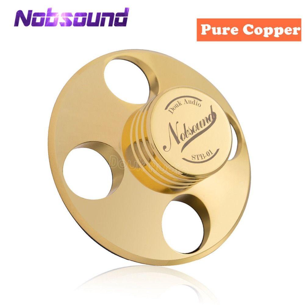 Nobsound Hi-End Hi-Fi Records LP Disc Stabilizer Turntables Vinyl Clamp Anti-skid Pure Copper Gold /Zinc alloy Silver
